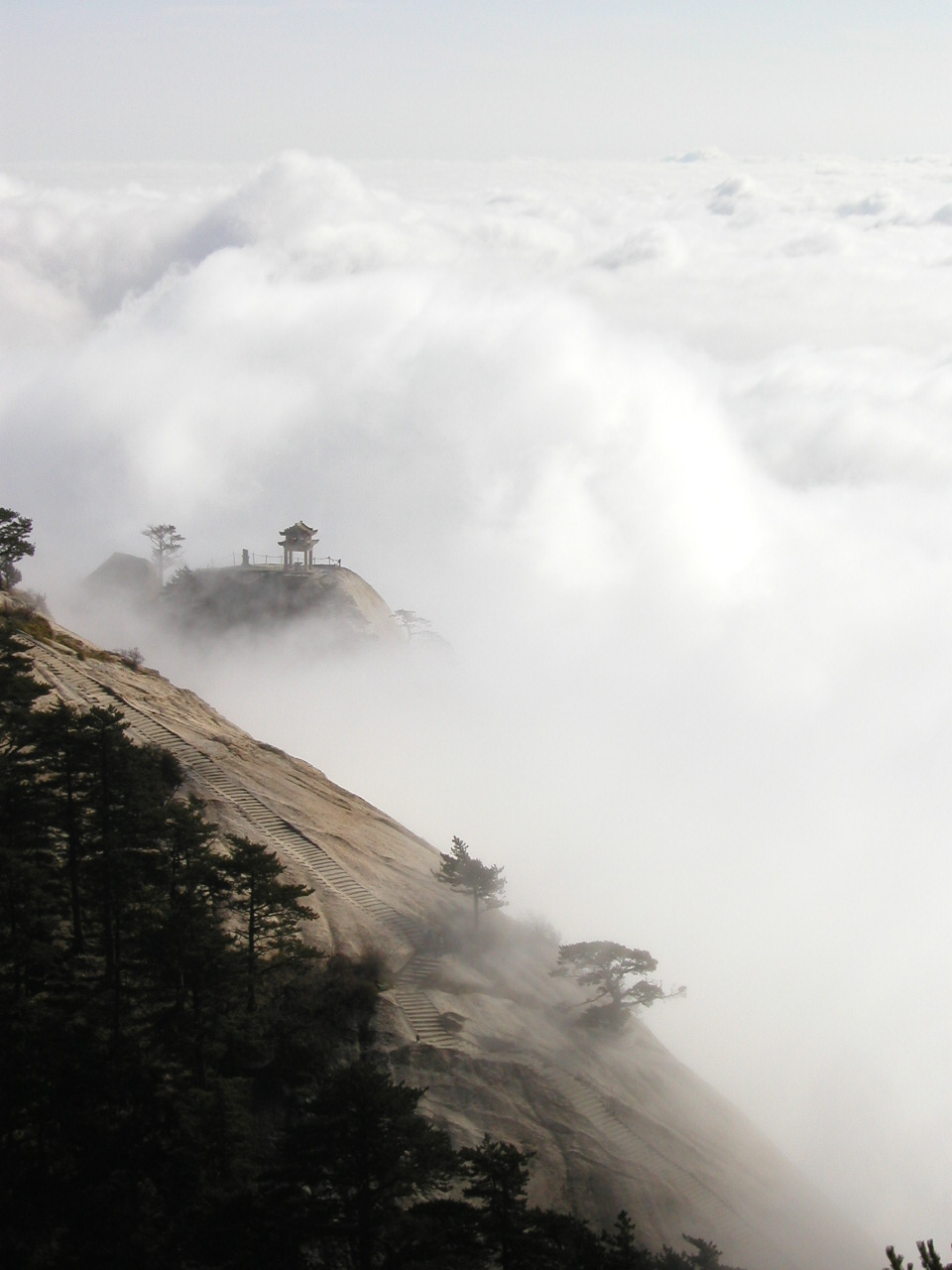 Méditation Mindfulness Brume nuages Chine